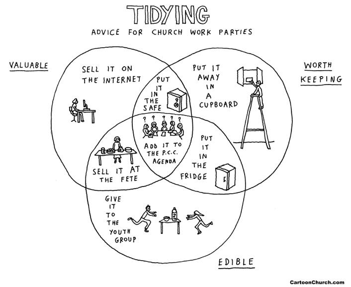 Tidying cartoon