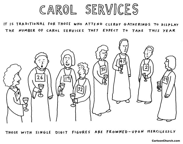 Carol service cartoon