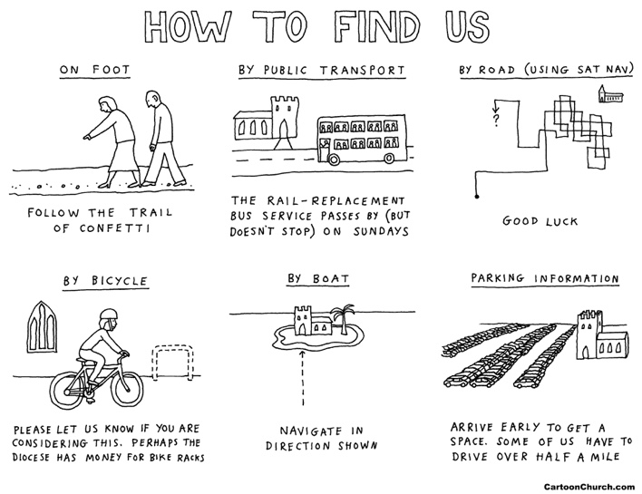 How to find us cartoon