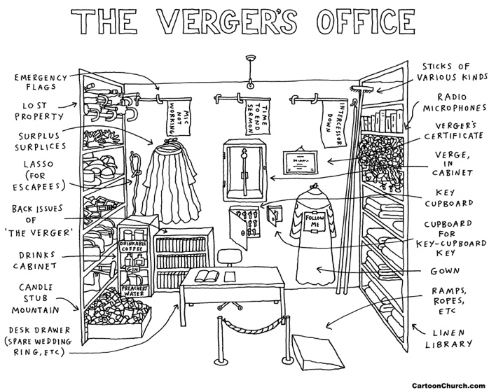 verger's office cartoon