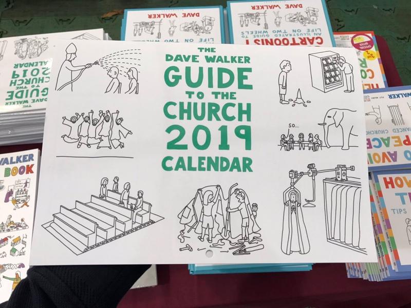 2019 cartoon calendar by Dave Walker