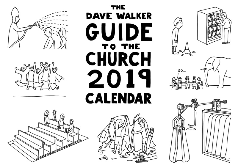 2019 cartoon calendar by Dave Walker