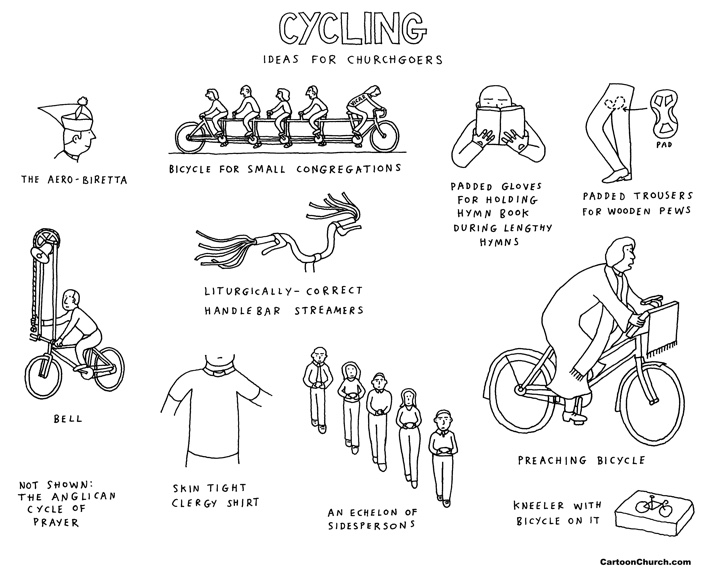 cycling cartoon