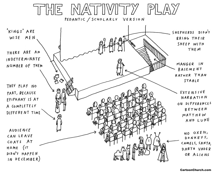 Nativity play cartoon