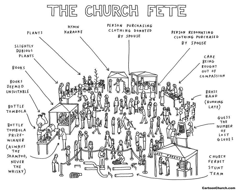 church fete cartoon
