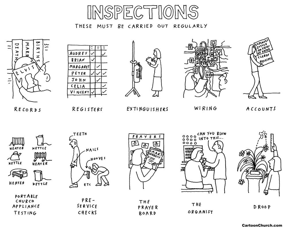 church inspections cartoon