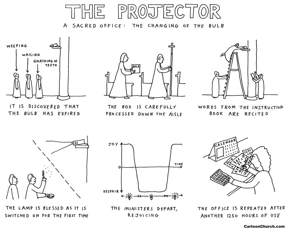 projector cartoon