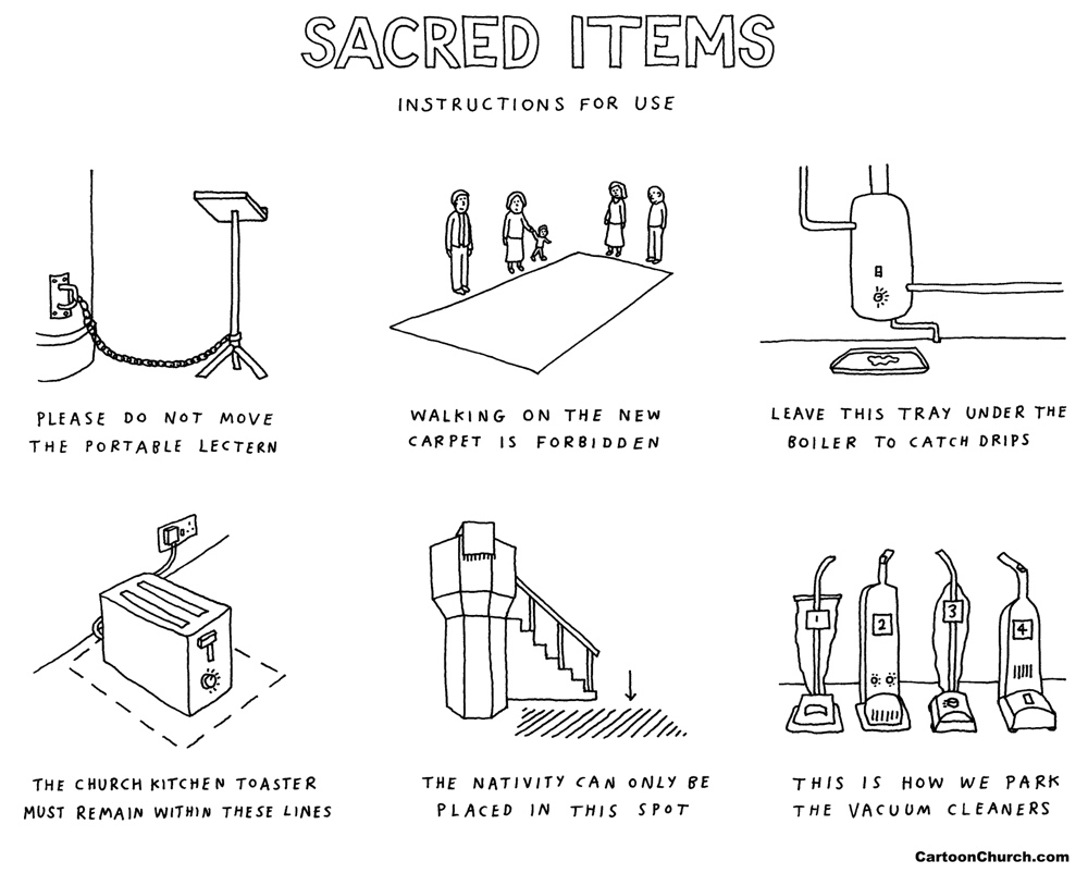 sacred items cartoon