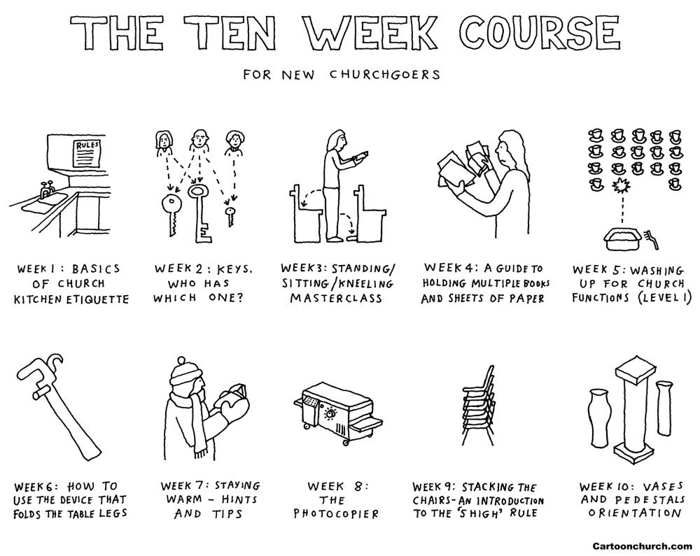 Ten week course cartoon