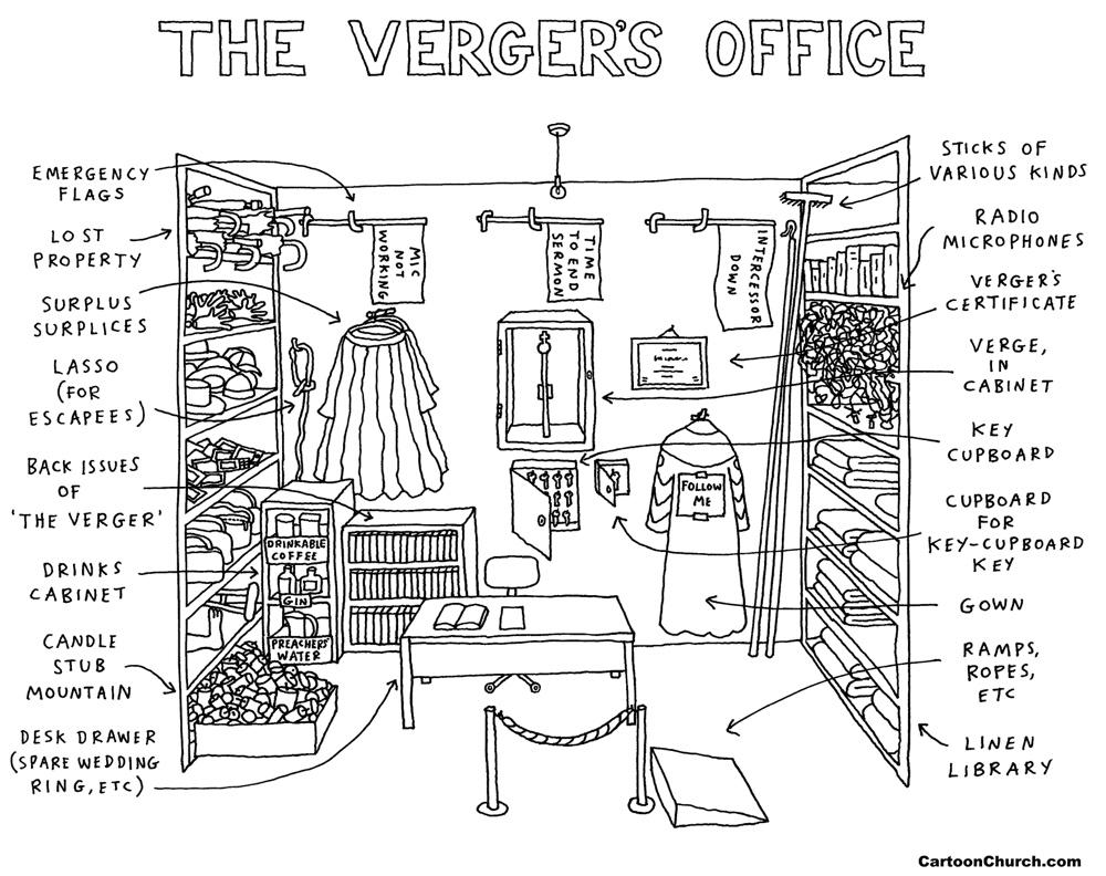 verger's office cartoon