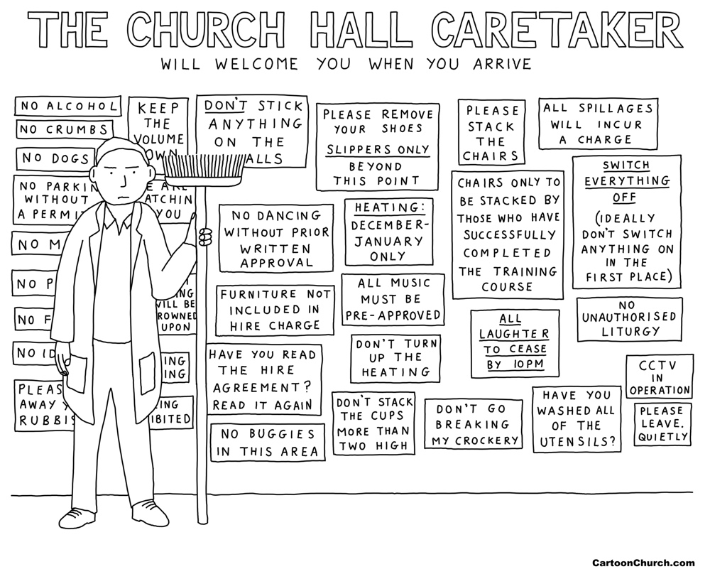 Church hall caretaker