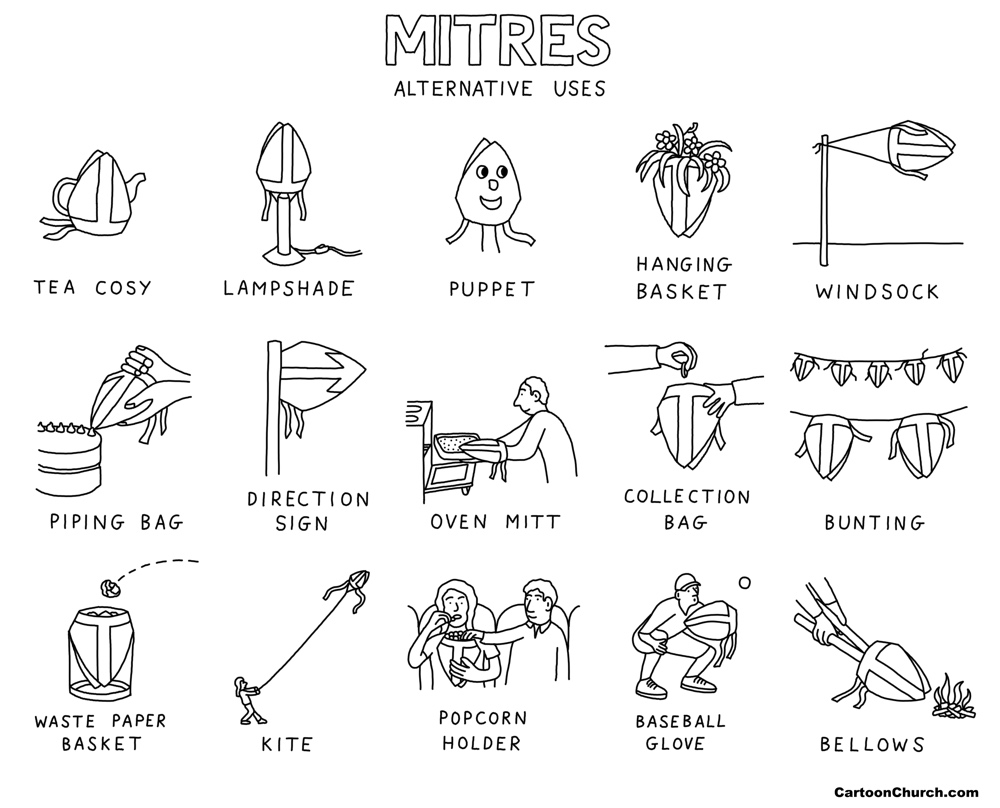 Mitres cartoon