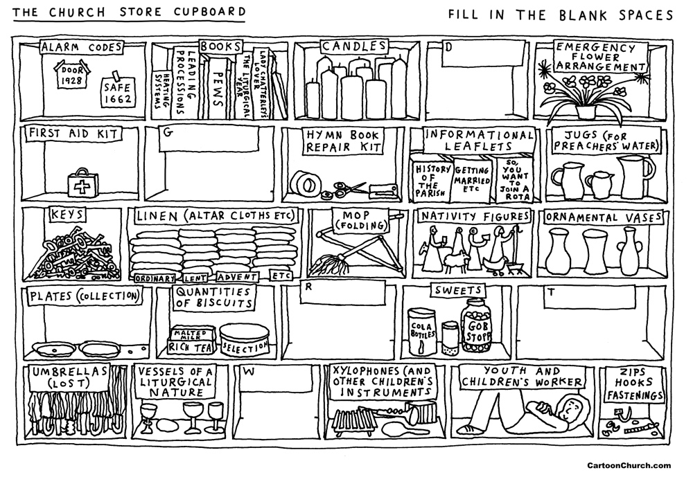 Colouring: Store cupboard