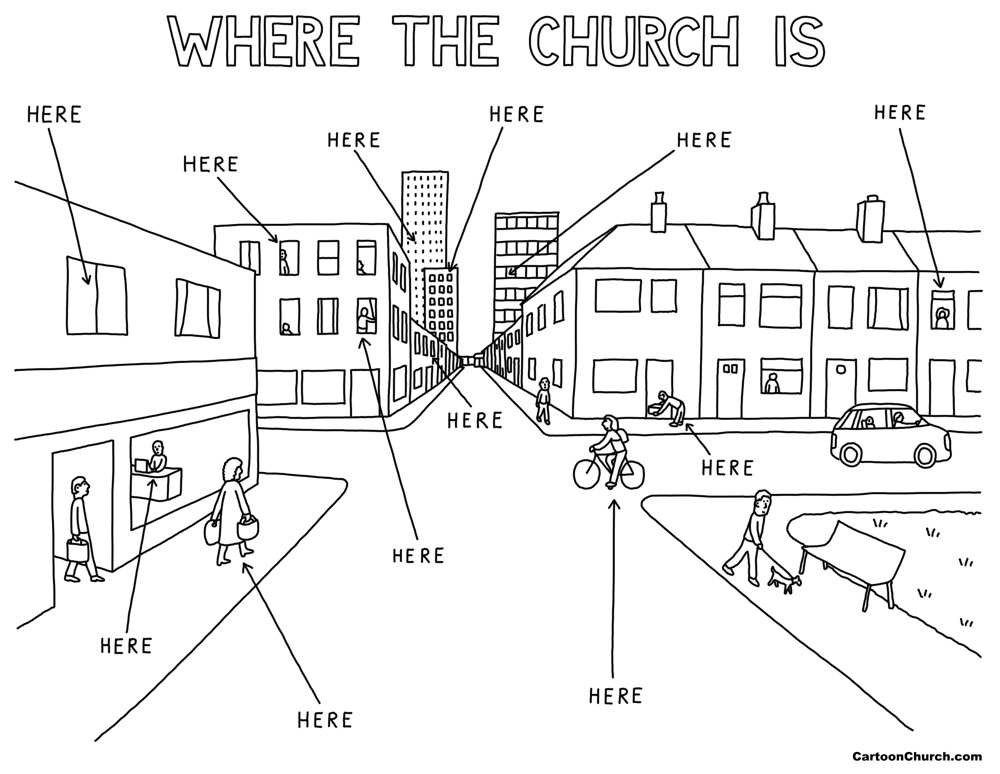Where the church is