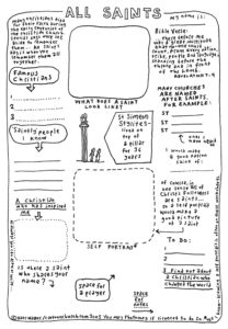 Cartoon Worksheet: All Saints